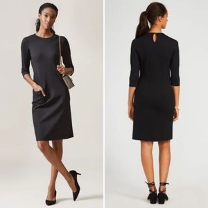 J. McLaughlin | Black Catalyst Keyhole Dress
